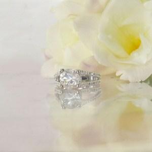 Split Band Engagement Ring