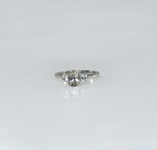 Herkimer diamond aqua ring