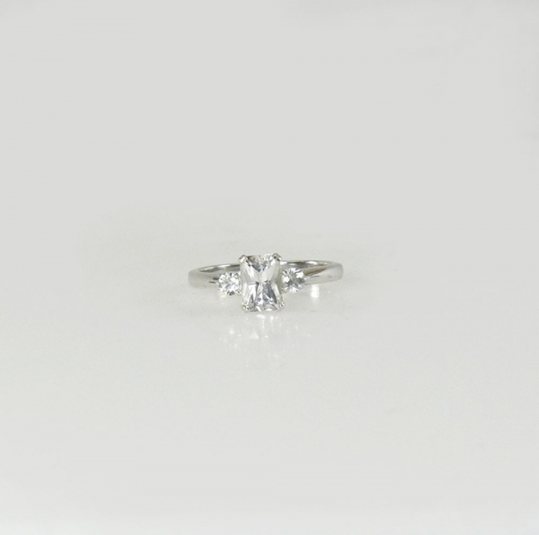 Herkimer Aquamarine Ring