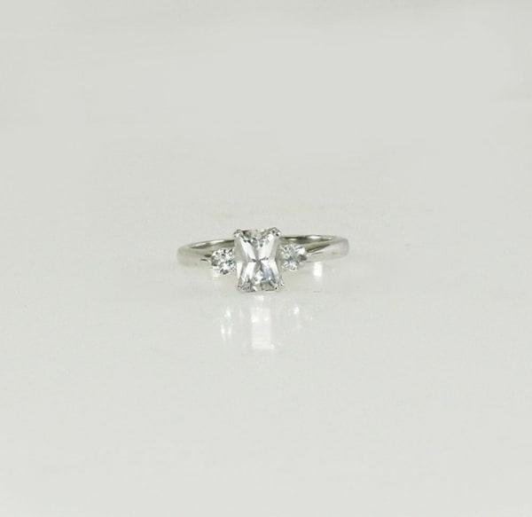 Herkimer diamond Aquamarine ring