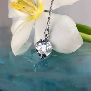 Herkimer Diamond Platinum Pendant