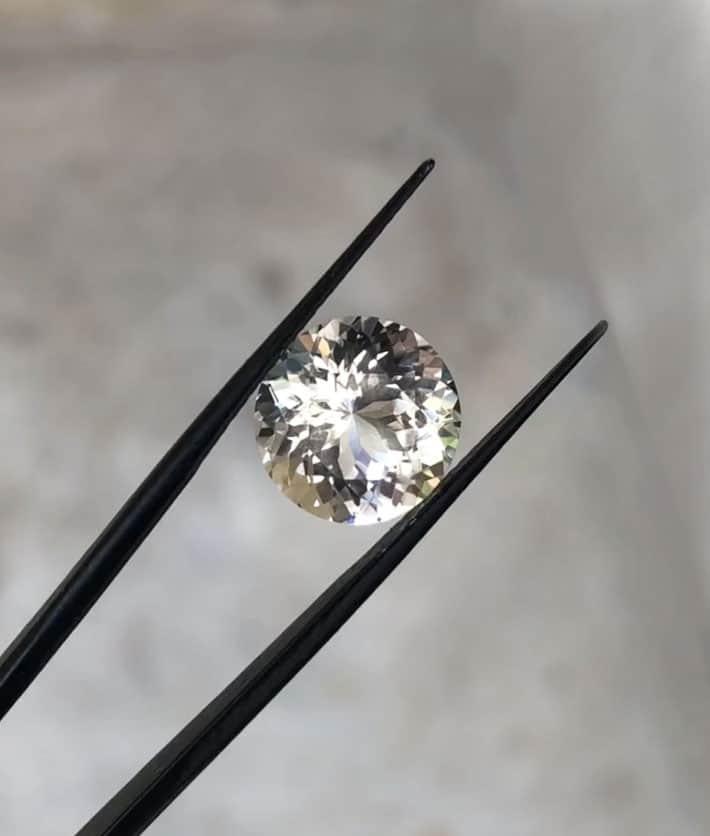 Light smokey round herkimer diamond
