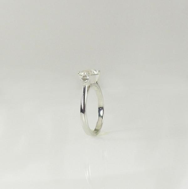 Square Herkimer Aquamarine Ring