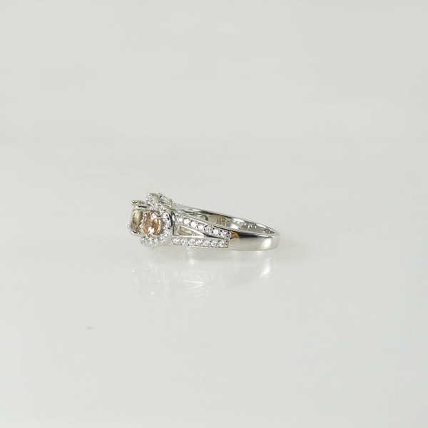 Herkimer Ring Tourmaline Accents