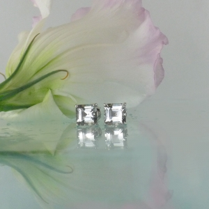 Herkimer square earrings