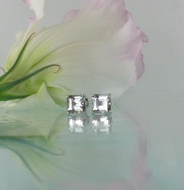 Herkimer square earrings