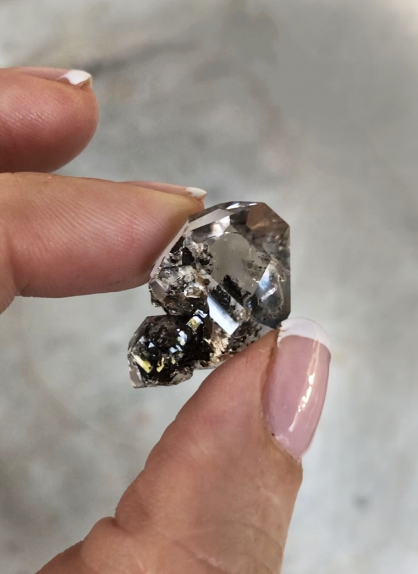 Short herkimer scepter
