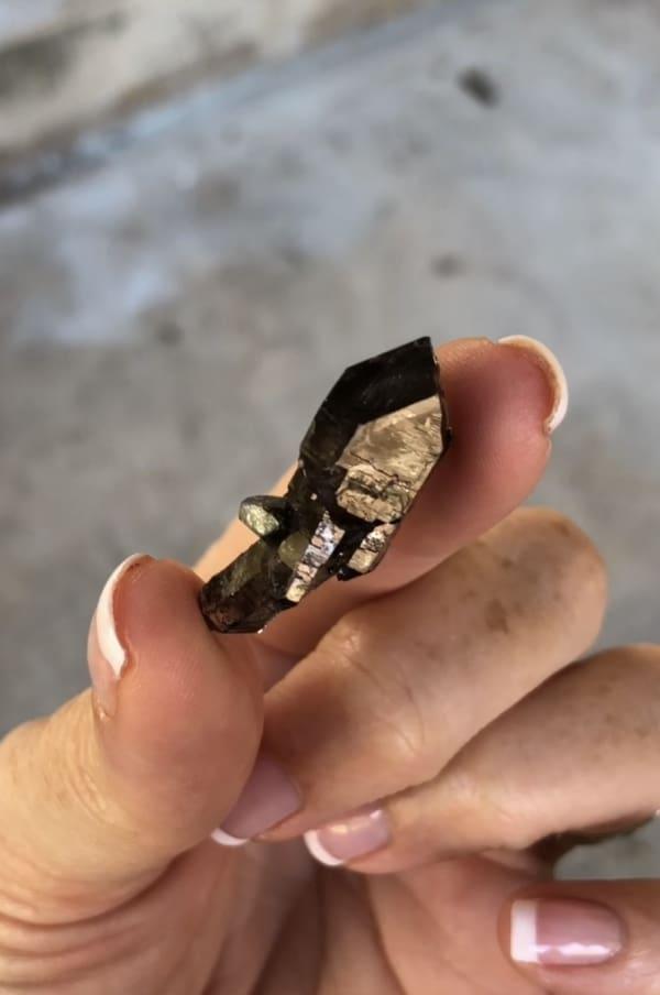 Black Herkimer Scepter