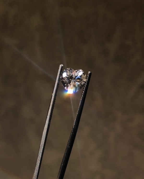 Heart Herkimer Diamond