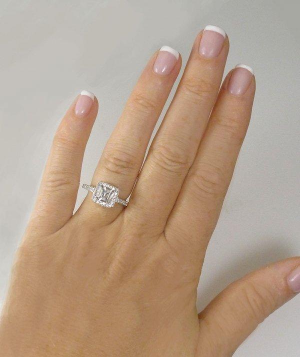 Asscher cut herkimer engagement ring