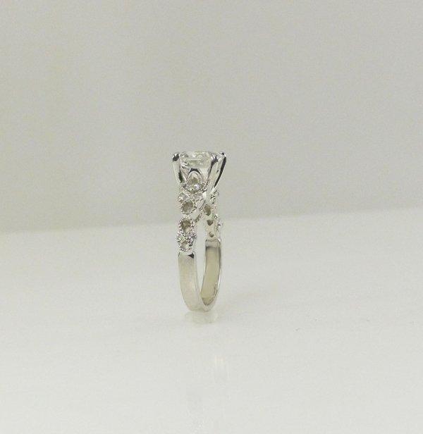 Asscher cut art deco ring