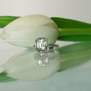 Bi Color Herkimer Ring