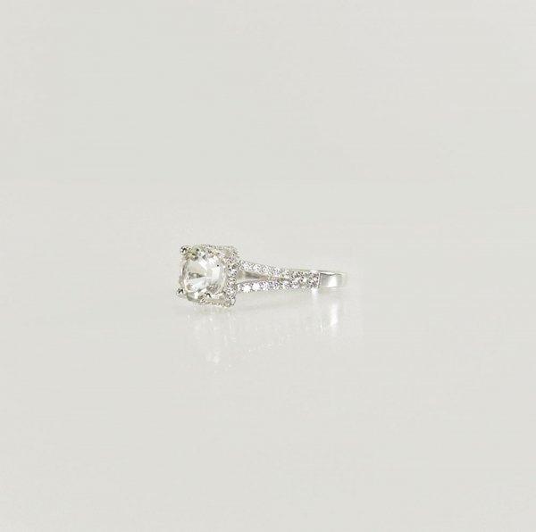 Miners Cut Herkimer Diamond Ring