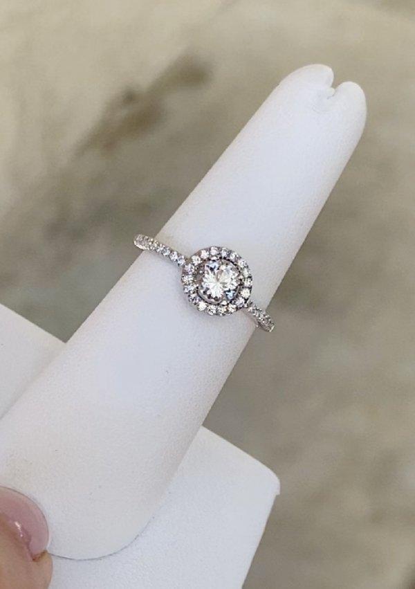 Dainty halo ring