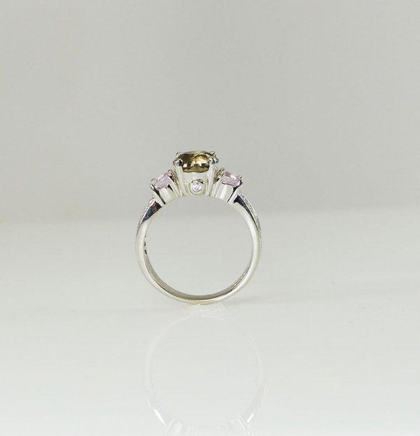 Champagne Herkimer Morganite Ring