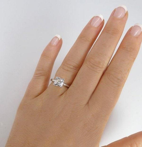 Asscher Cut Solitaire Ring