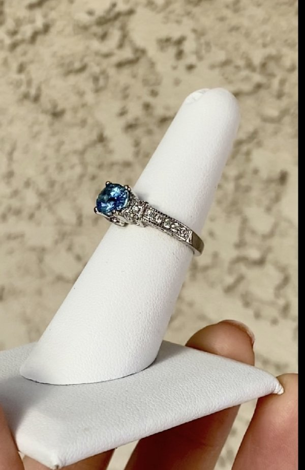 Natural Aquamarine Ring