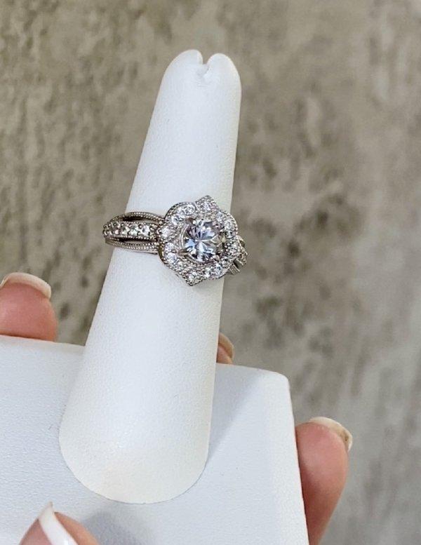 Lotus Herkimer Ring