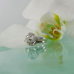 Herkimer Bezel Engagement Set