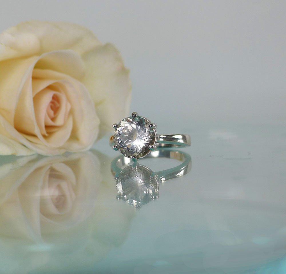 Tiffany Style Herkimer Ring