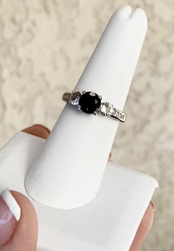 Smoky Quartz Herkimer Ring