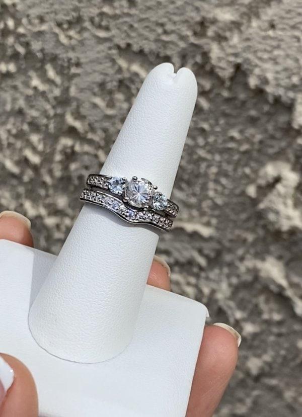 Herkimer Aquamarine Wedding Set