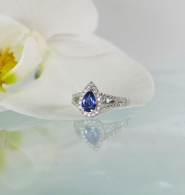 Blue Sapphire Sterling Ring