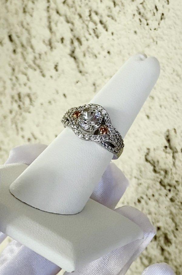 Herkimer mandarin garnet ring