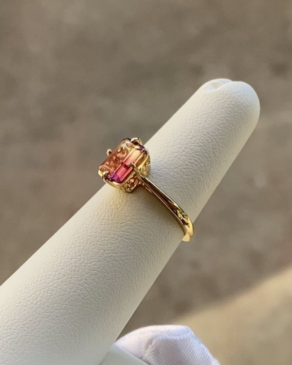 Tourmaline Gold Ring