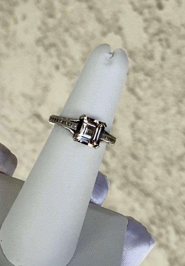 Champagne Herkimer Asscher Cut Ring