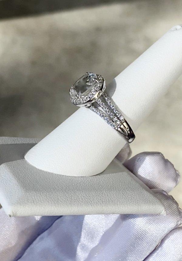 Herkimer oval split band ring
