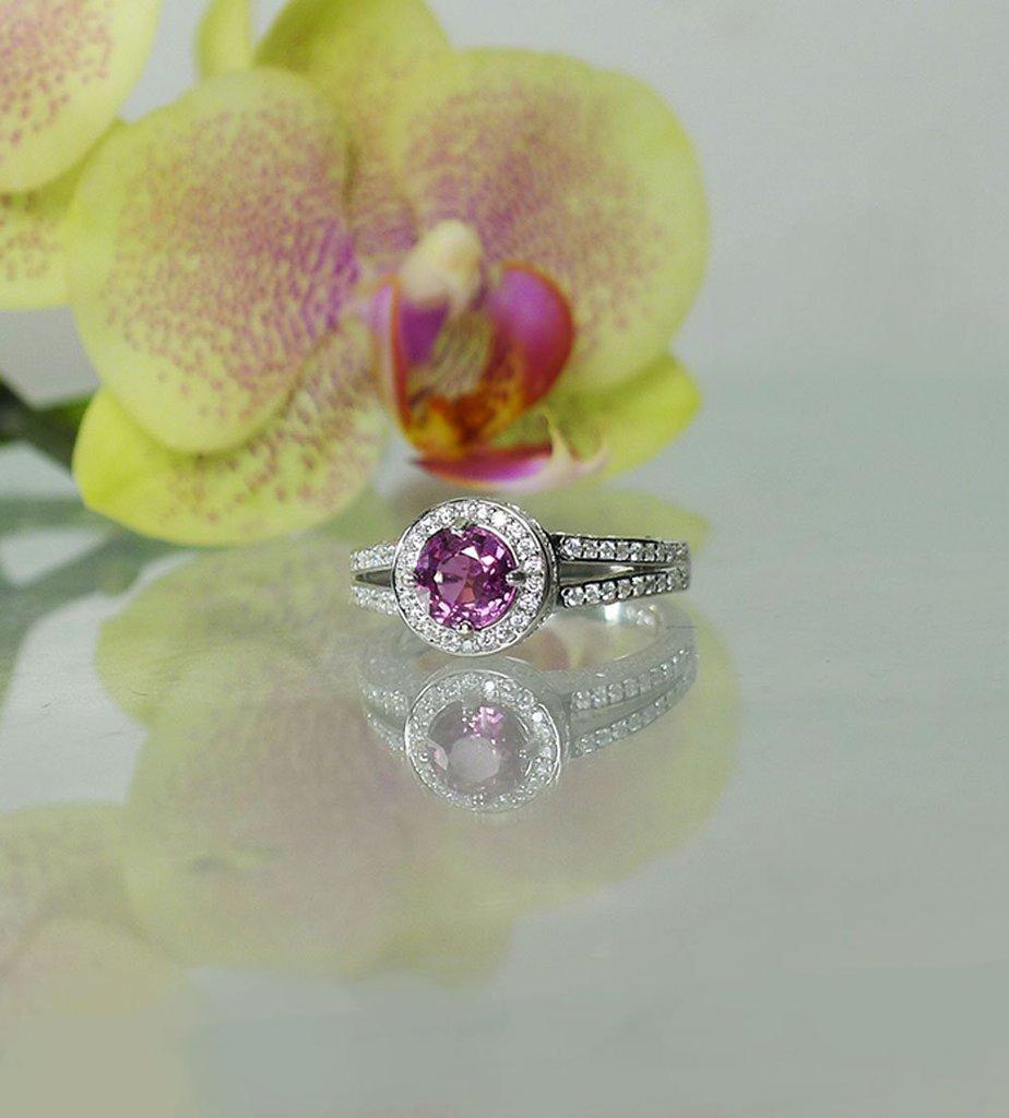 Rose Pink Tourmaline Ring