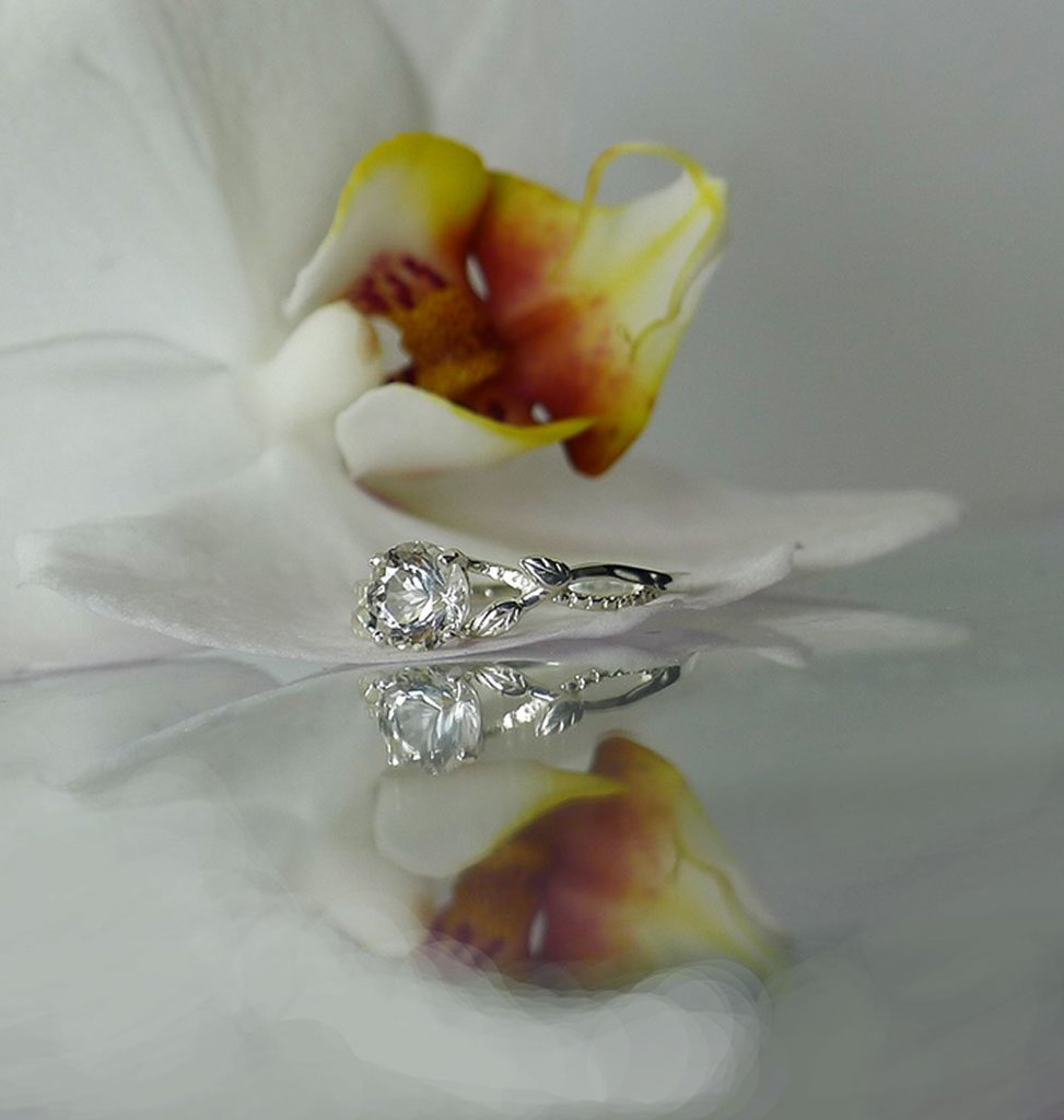 Dainty Herkimer Solitaire Ring