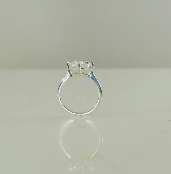 Herkimer Cushion Cut Ring