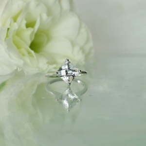Herkimer Cushion Cut Ring
