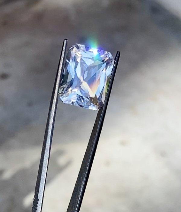 Large scissor cut herkimer diamond