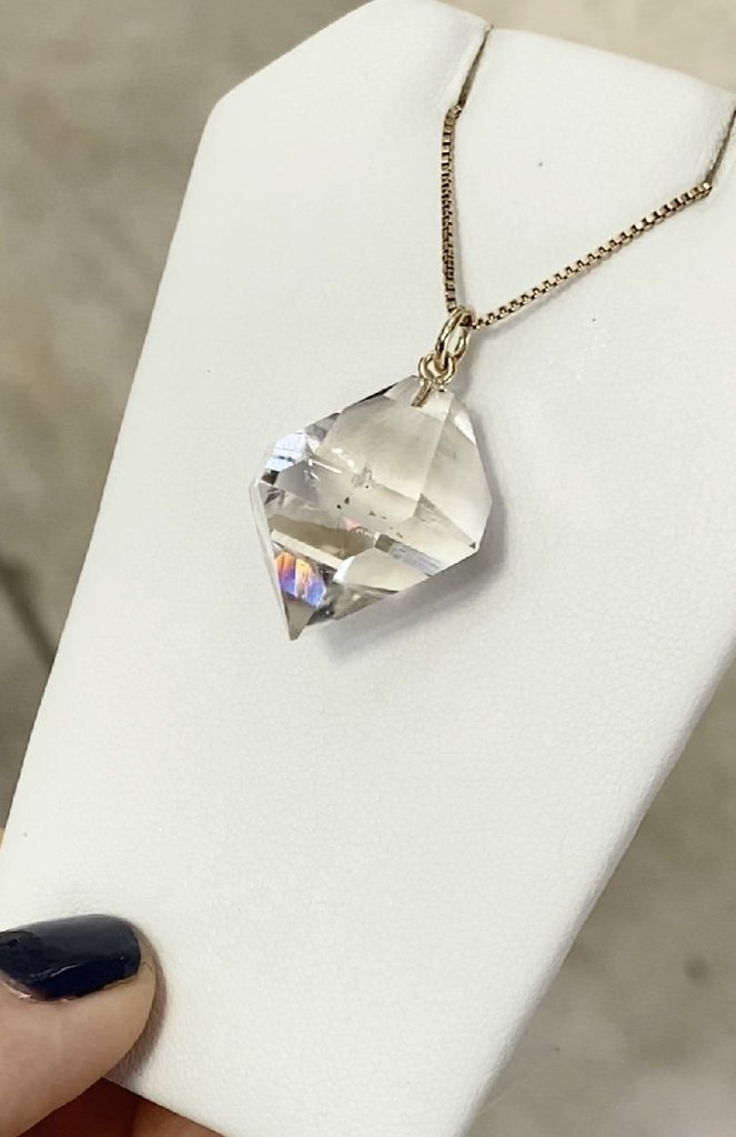 Large Raw Crystal Pendant