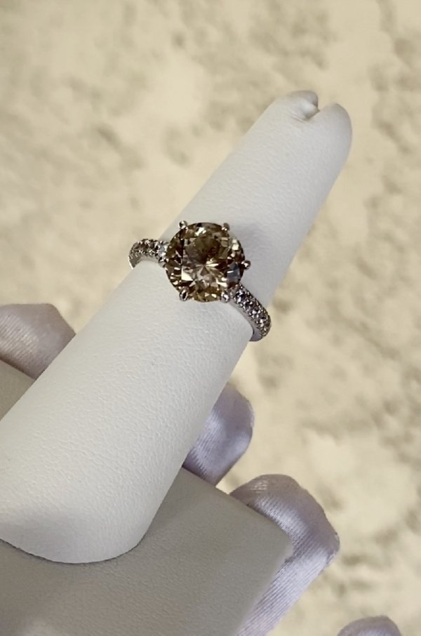 Herkimer Six Prong Ring