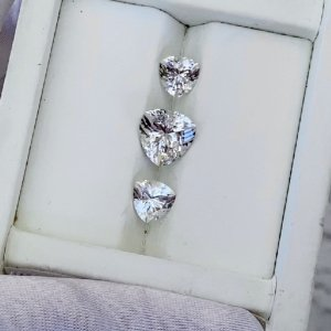 Herkimer Triangle Gem Set
