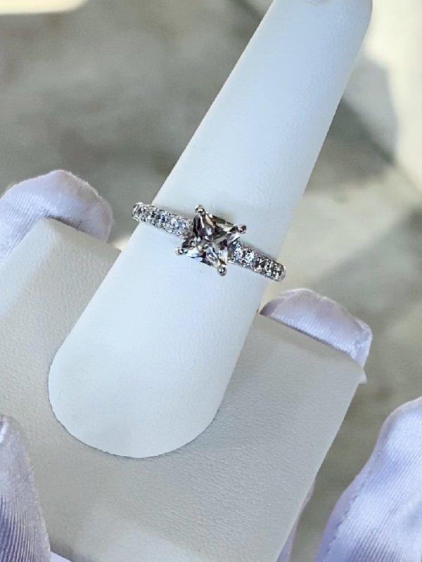 Square Petite Herkimer Ring
