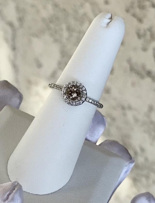 Round Petite Herkimer Ring