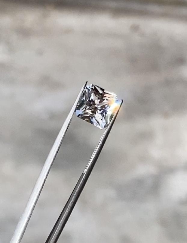 Princess cut herkimer loose gem