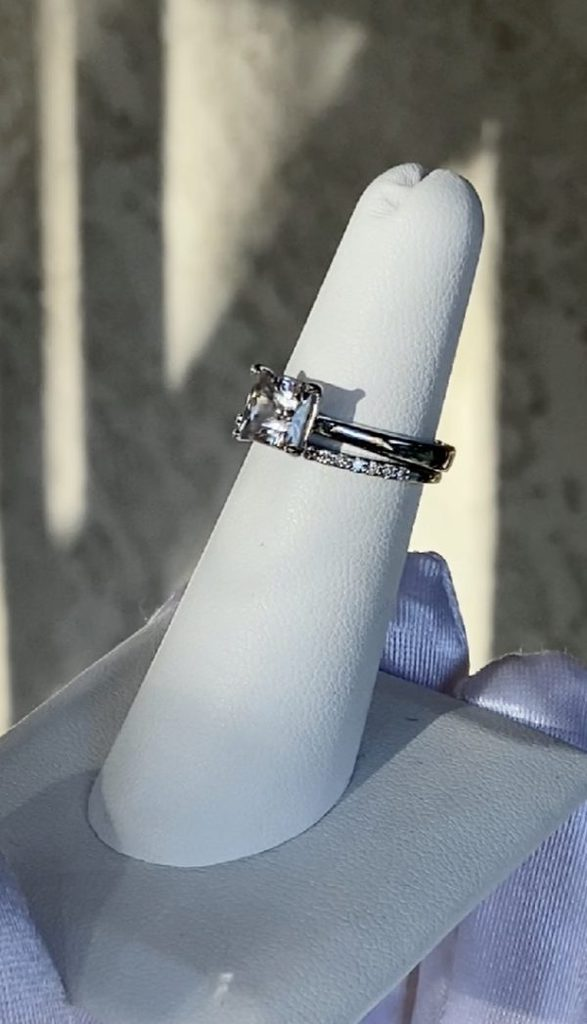 Herkimer white gold wedding setv