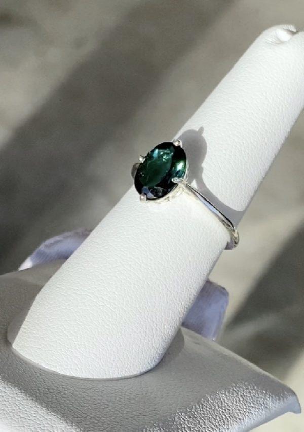 Indicolite Tourmaline Ring