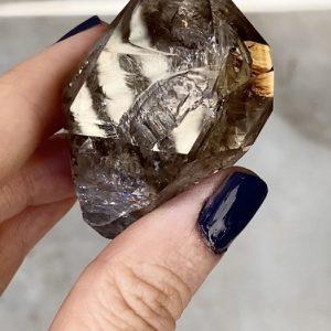 Chocolate herkimer crystal