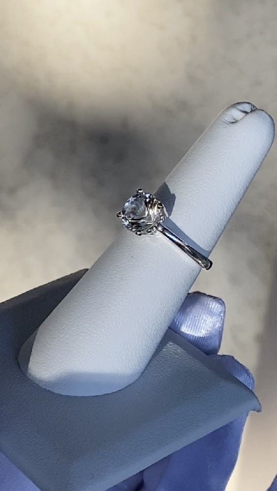 Brilliant cut herkimer ring