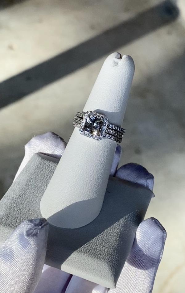 Herkimer Three Band Ring