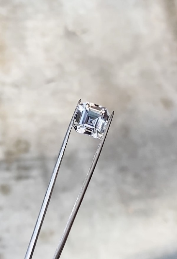 Clear herkimer asscher cut