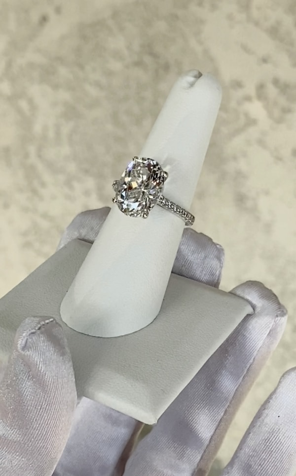 Large Oval Herkimer Ring