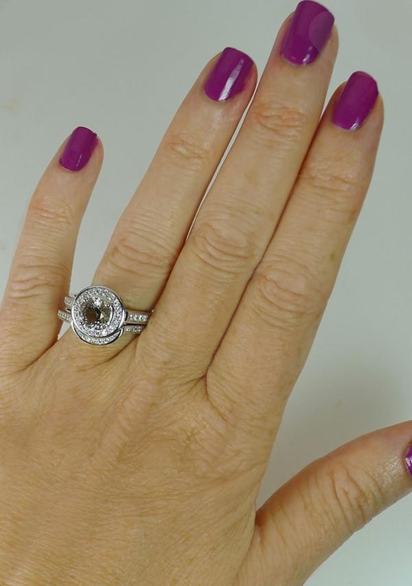 Champagne Herkimer Ring Set